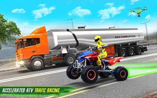 Light ATV Quad Bike Racing, Traffic Racing Games 18 Screenshots 9