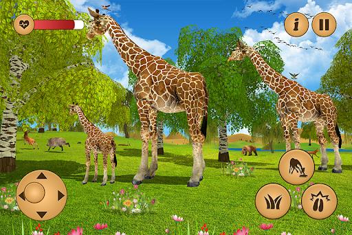 Giraffe Family Life Jungle Simulator apktram screenshots 2