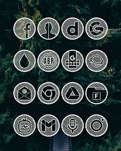 Lines Circle APK White Icon Pack [PAID] Download New Version 2