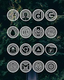 Lines Circle - White Icon Pack - Screenshot 14