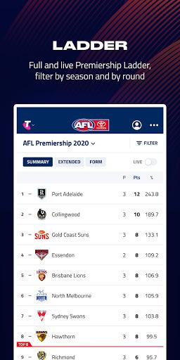 AFL Live Official App  screenshots 4