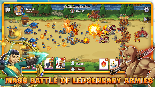 Mega War Mod Apk- lash of Legions (Unlimited Gold) 8