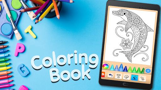 Dolphin and fish coloring book 16.3.2 screenshots 14