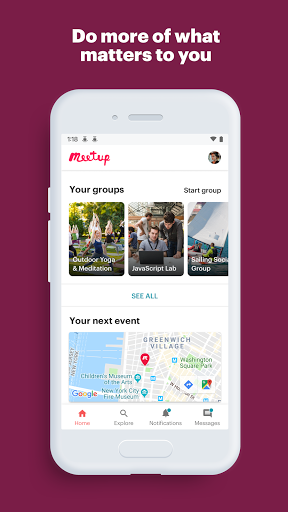 Meetup: Find events near you Latest screenshots 1