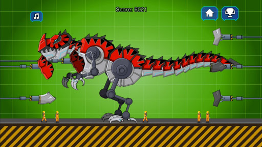 Red T-Rex Robot Dinosaur 2.5 screenshots 2