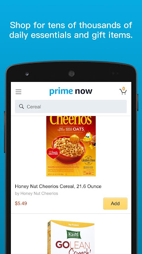 Amazon Prime Now modavailable screenshots 2