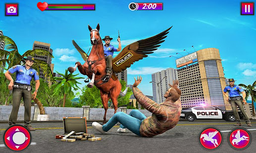 flying horse police chase : us police horse games hack