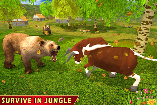 Wild Bull Family Survival Sim apkpoly screenshots 1