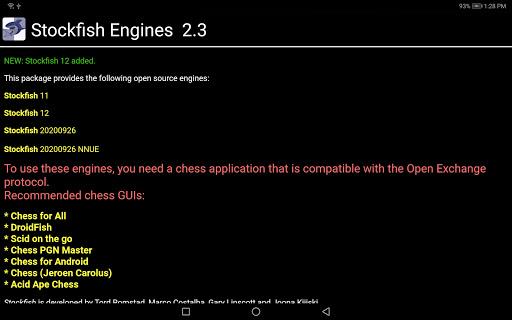 Stockfish Engines OEX  screenshots 2
