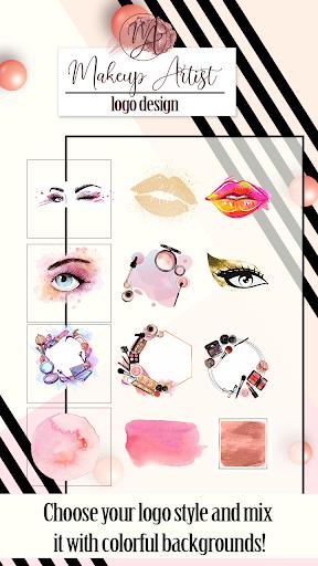 Makeup Artist Logo Design Maker  Screenshots 3