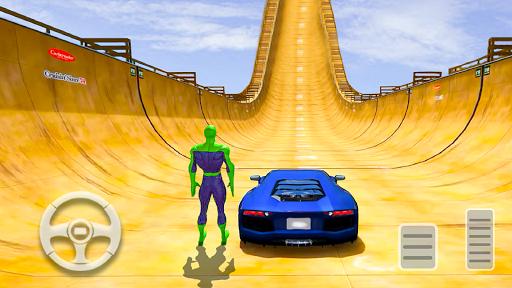 Superhero Mega Ramps: Crazy Car Stunt Races  screenshots 1