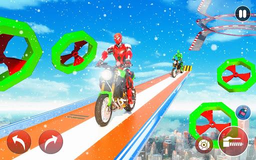 New Crazy Rope Spider Girl Bike Stunts Master 2021 screenshots 8