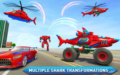 Monster Truck Robot Shark Attack u2013 Car Robot Game 2.1 screenshots 11