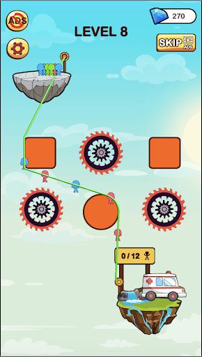 hero rescue: rope puzzle screenshot 2