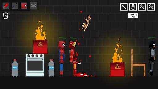 Spider Ragdoll Playground: Iron Human apkpoly screenshots 1