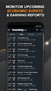 Download investing com App for android, iphone 4