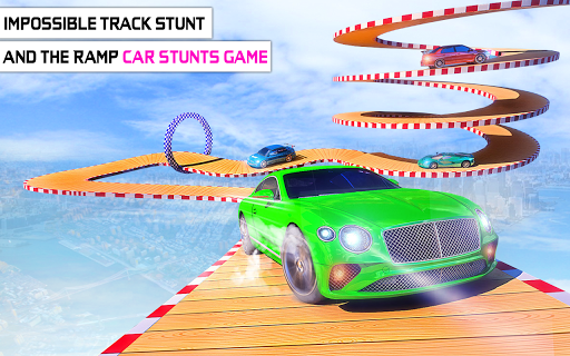 Mega Stunt Car Race Game - Free Games 2020 3.5 screenshots 12
