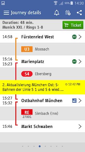 MVG Fahrinfo München  screenshots 3