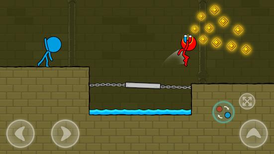 Stickman rouge et bleu: Parkour d'animation