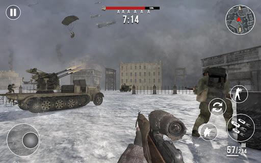 World War 2 Winter Heroes - Free Shooting Games 1.2.2 screenshots 13