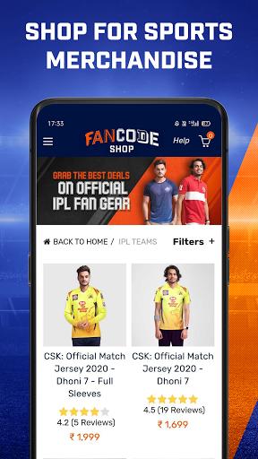 Cricket Live Stream, Scores & Predictions: FanCode android2mod screenshots 4