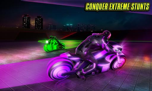 Light Bike Stunt Racing Game 18 Screenshots 2