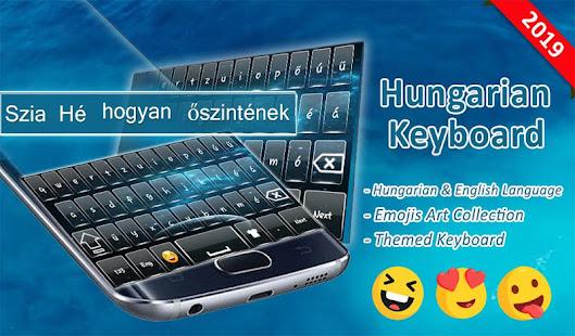ハンガリー語キーボード:無料のオフライン作業キーボード