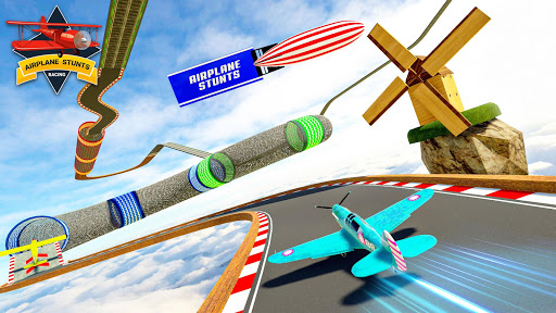 Plane Stunts 3D : Impossible Tracks Stunt Games apkmr screenshots 15