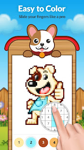 Dog Pixel Art Paint by Numbers