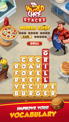 Code Triche World Chef - Word Stacks (Astuce) APK MOD screenshots 4