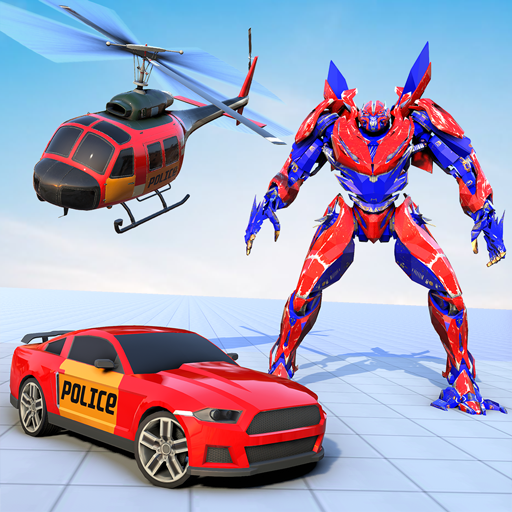 Police Robot Car Transform Wars - Mega Robot Game