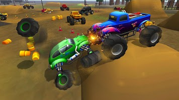 Monster Trucks Rival Crash Demolition Derby Game