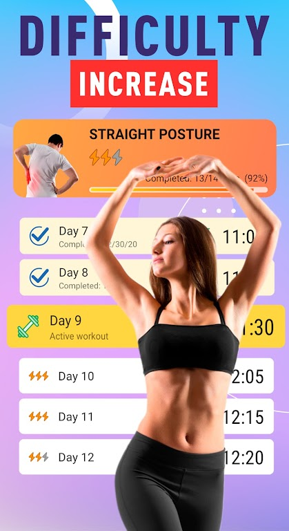 Healthy Spine & Straight Posture - Back exercises  poster 2