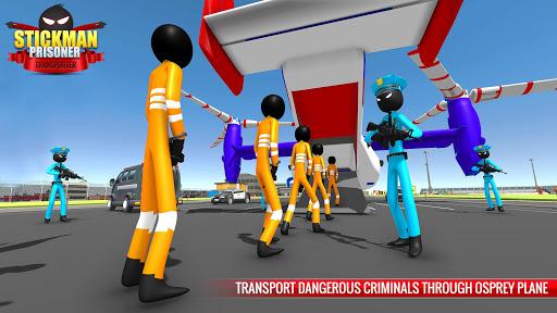 US Police Stickman Criminal Plane Transporter Game 4.7 screenshots 5