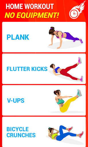 Six Pack Abs Workout 30 Day Fitness: Home Workouts 39.0 Paidproapk.com 2