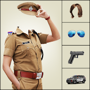Men Police Photo Suit