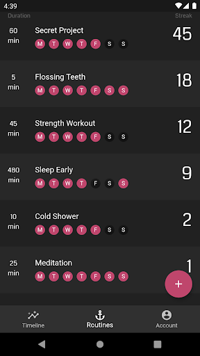 Routines - The Habit Tracker to master your Life