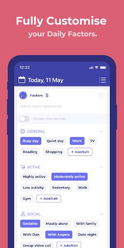 Bearable - Symptoms & Mood tracker modavailable screenshots 5