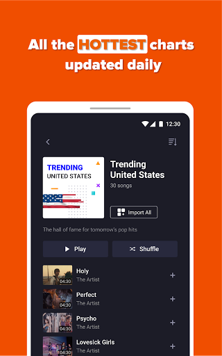 Free Music Streaming: Trending for Tube Music Song  screenshots 11