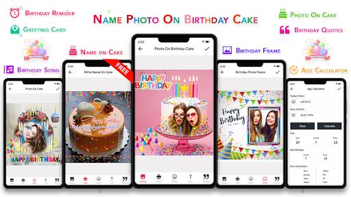 Name Photo On Birthday Cake - Birthday Photo Frame  screenshots 1