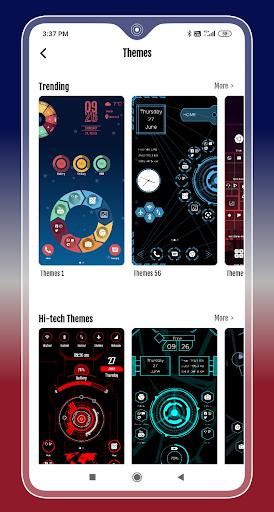 Compact Hitech Launcher - sci-fi, win style Themes 4.0 Screenshots 8