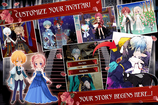 Blood in Roses - otome game / dating sim #shall we  screenshots 16