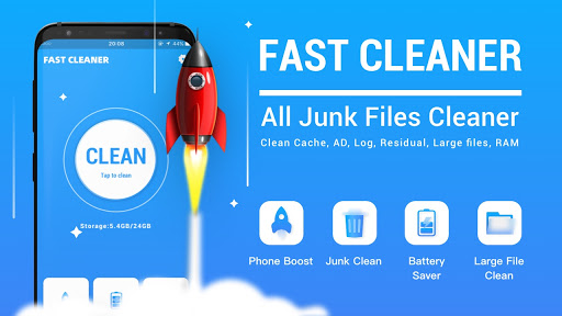 Fast Cleaner - Freeup phone space, junk& boost ram android2mod screenshots 1