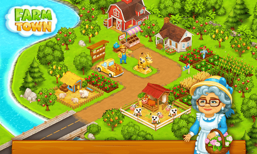 Farm Town  Happy farming Day  food farm game City Apk Download 2021 5