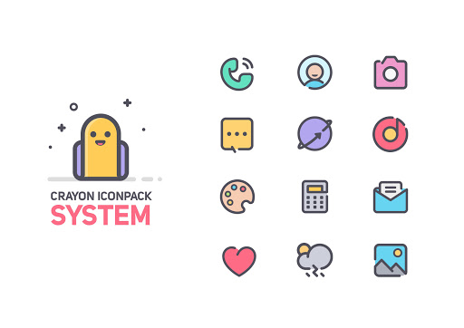Download APK: Crayon Icon Pack v2.7 [Patched]