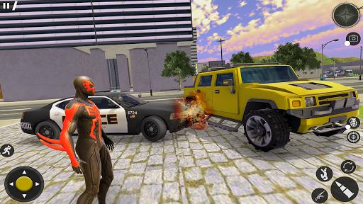 Spider Rope Hero Gangster: Crime City Simulator 3D  screenshots 1