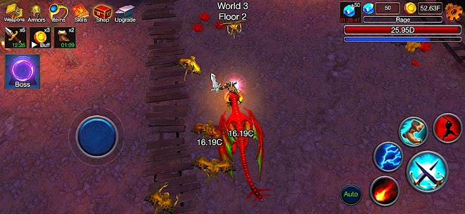 Dungeon Clash Mod Apk- 3D Idle RPG (Unlimited Gold/ Diamonds) 6
