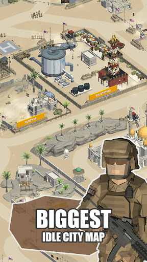Idle Warzone 3d: Military Game - Army Tycoon screenshots 1