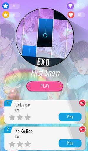EXO Piano Tiles Best KPOP Offline  Screenshots 1