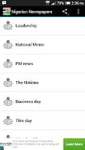 Nigerian Newspapers screenshot thumbnail